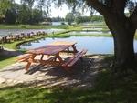 Compact Stół ogrodowy ławostół impregnowany lite drewno
