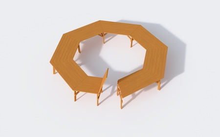 Stół ogrodowy  szkolny  konferencyjny  ALBIN (3)