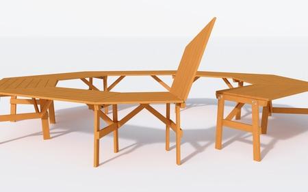 Stół ogrodowy  szkolny  konferencyjny  ALBIN (4)
