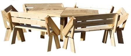 Stół ogrodowy PAWEŁ IMPREGNOWANY (3)