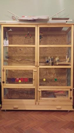 Woliery dla ptaków szerokość 100 cm głębokość 50 cm (1)